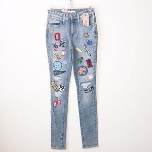 Levi's patch denim jeans